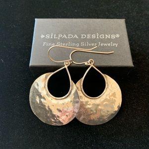 Silpada RETIRED sterling silver half moon earrings